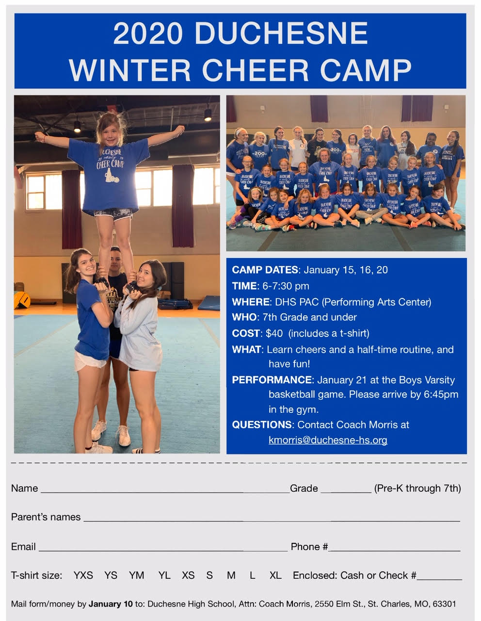 cheer winter camp