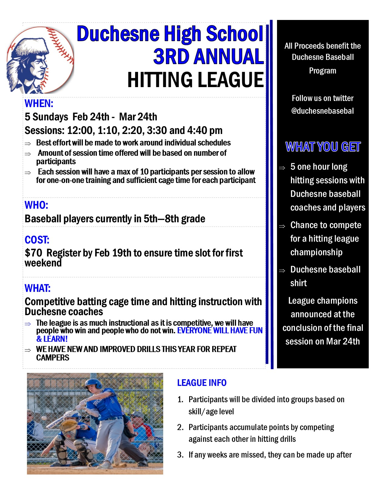 new hitting league